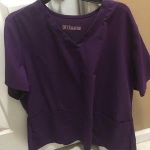 Other - Xxl purple greys anatomy scrub top